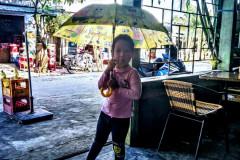 Litlle princess with umbrella